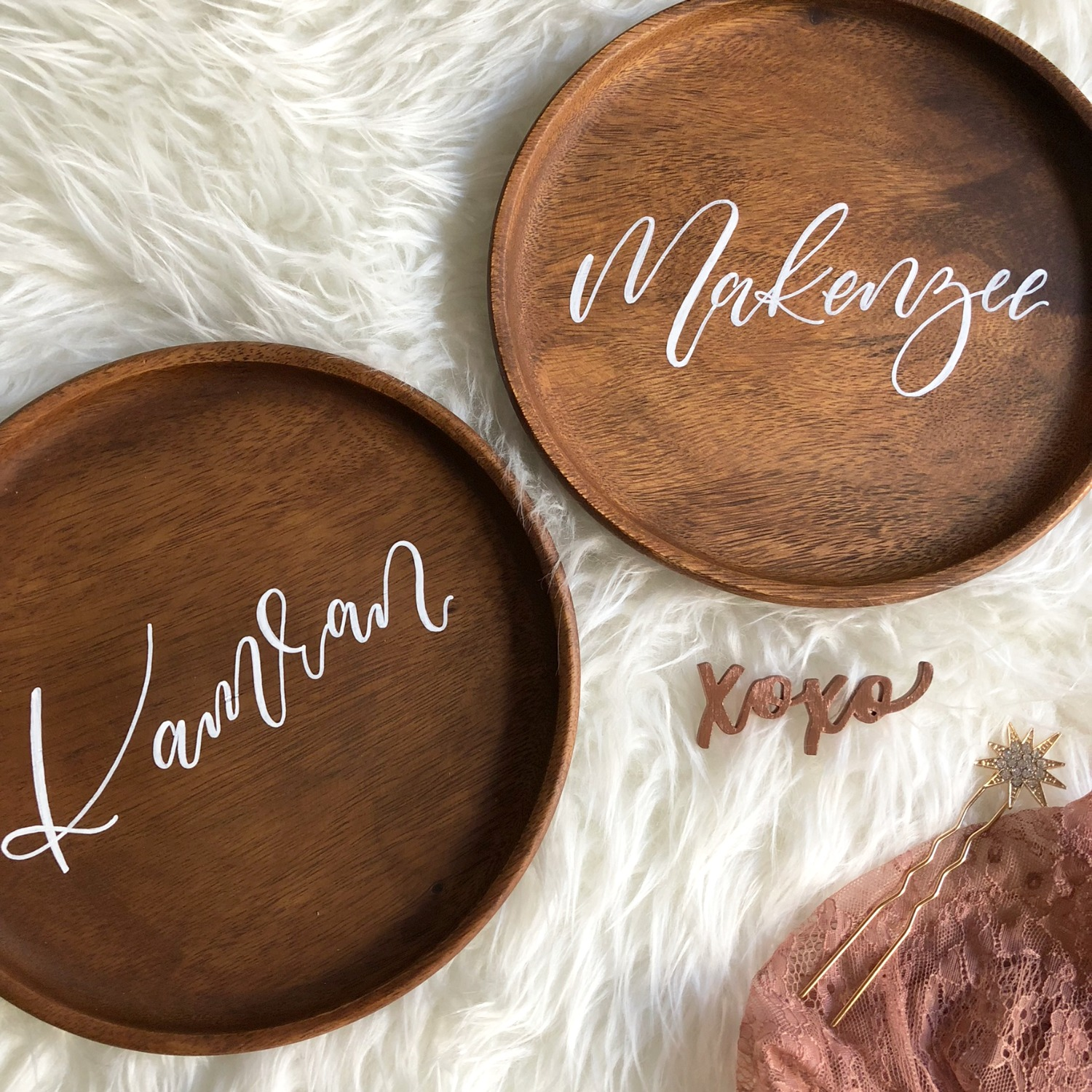 Wood Plate Place cards