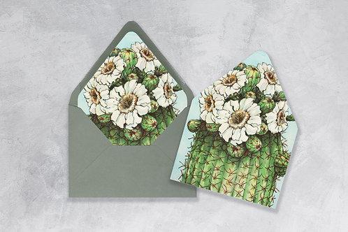 Watercolor Saguaro Envelope Liner
