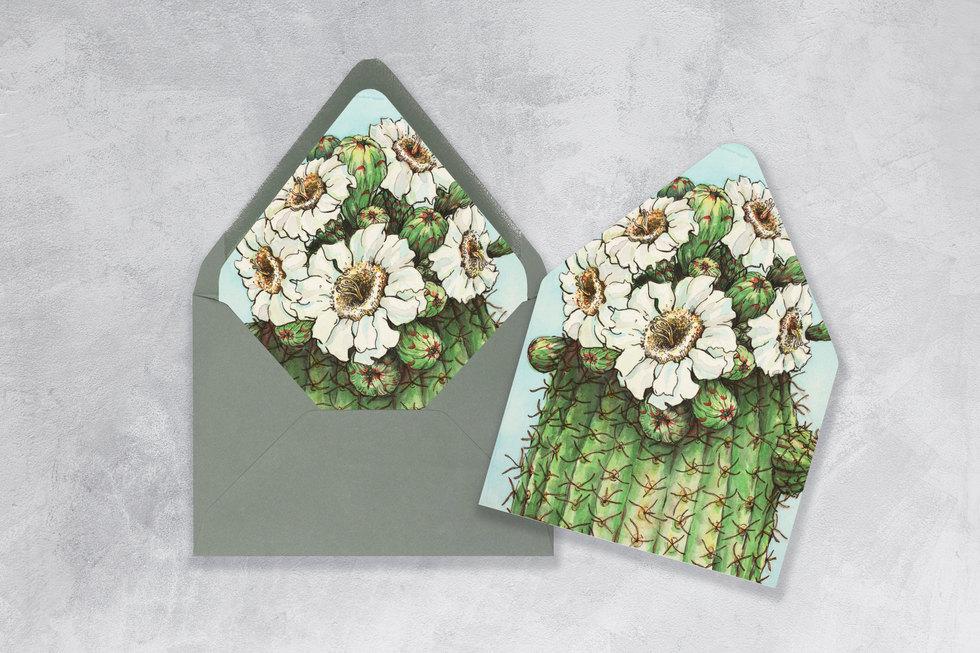Saguaro blossom envelope liner
