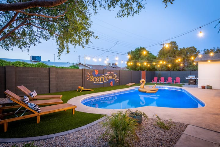 Scottsdale Poolside backyard Mural