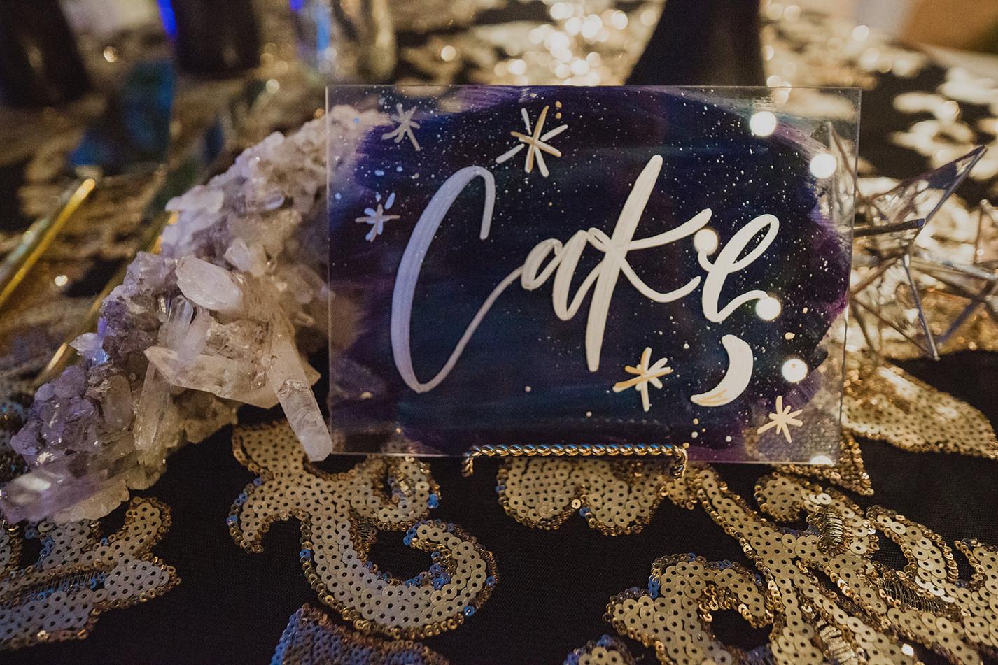 Cake Wedding Sign