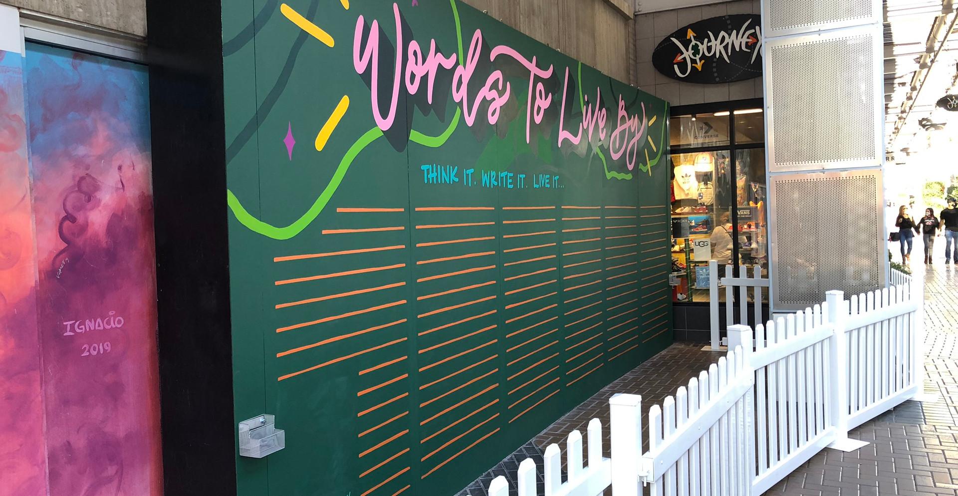 Tempe Marketplace Interactive Chalkboard Mural