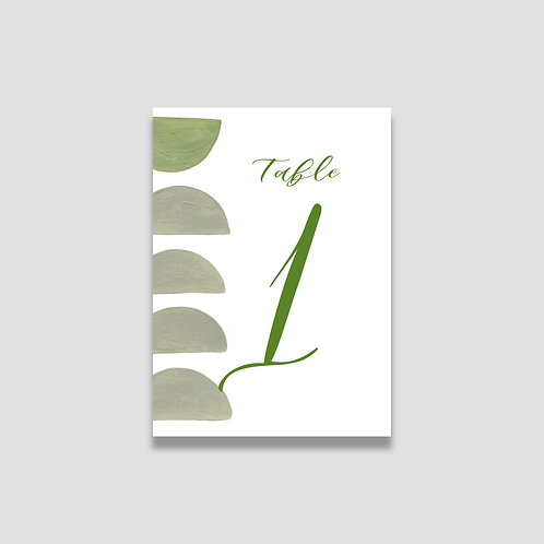 Earthy Abstract Table Numbers
