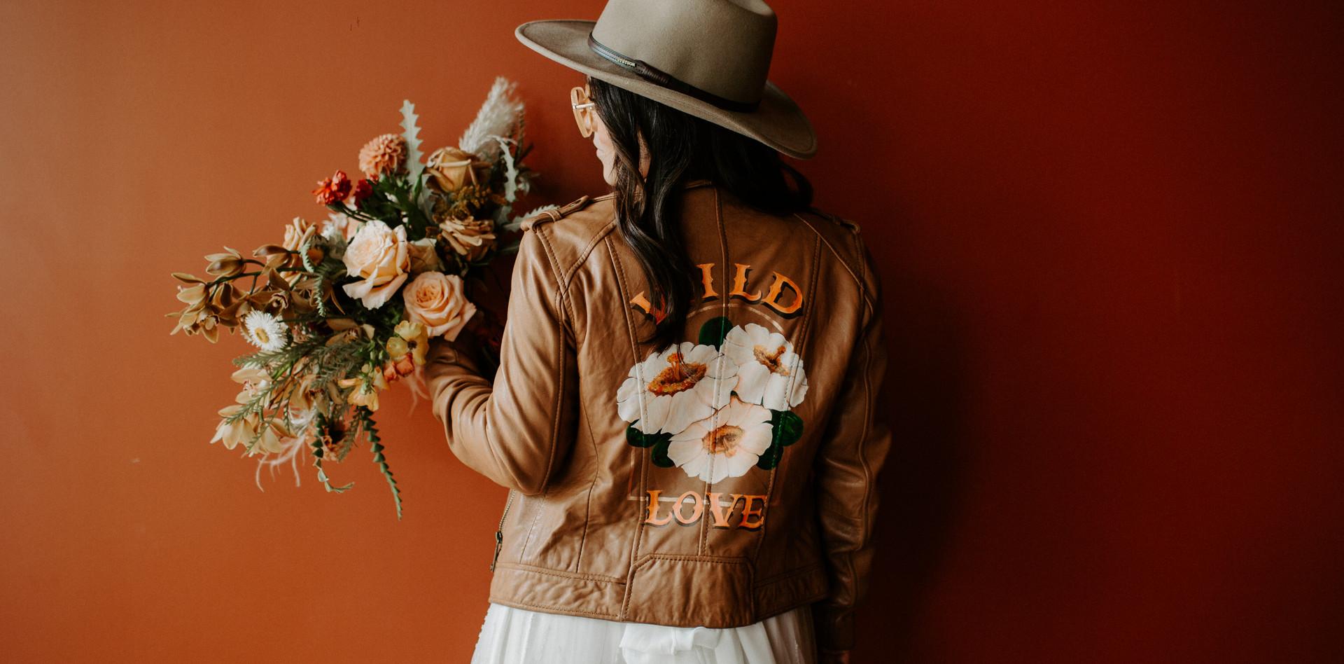 Custom leather Jacket - Tan