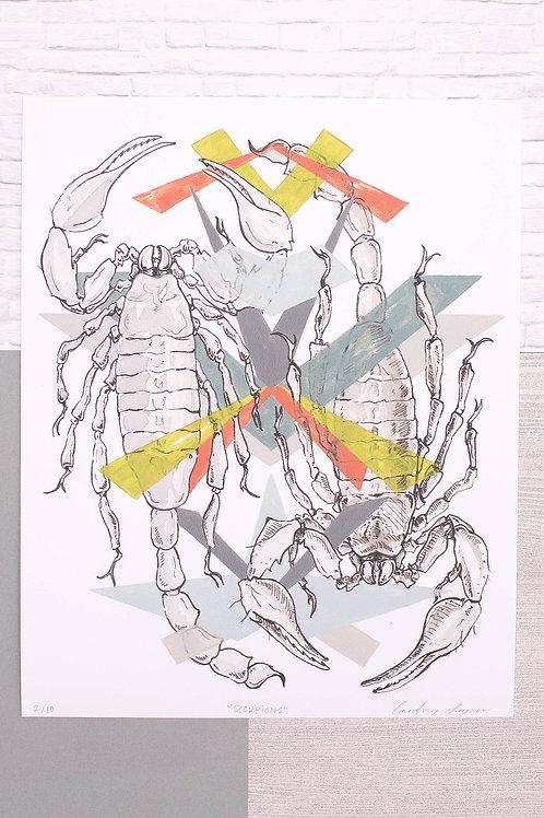 Geo Scorpions- Fine Art Print 8x10