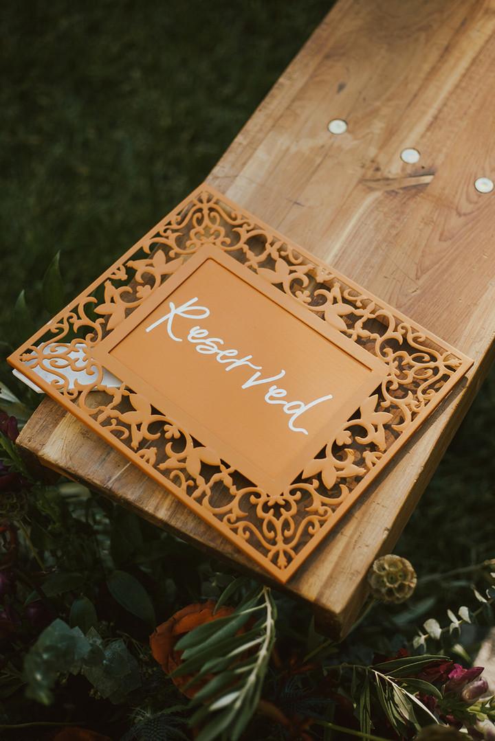 "Custom ""Reserved"" Wedding Sign"
