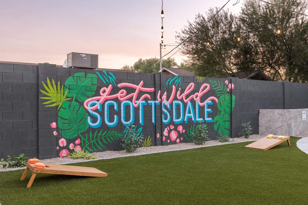 """Get Wild Scottsdale"" Backyard Mural"