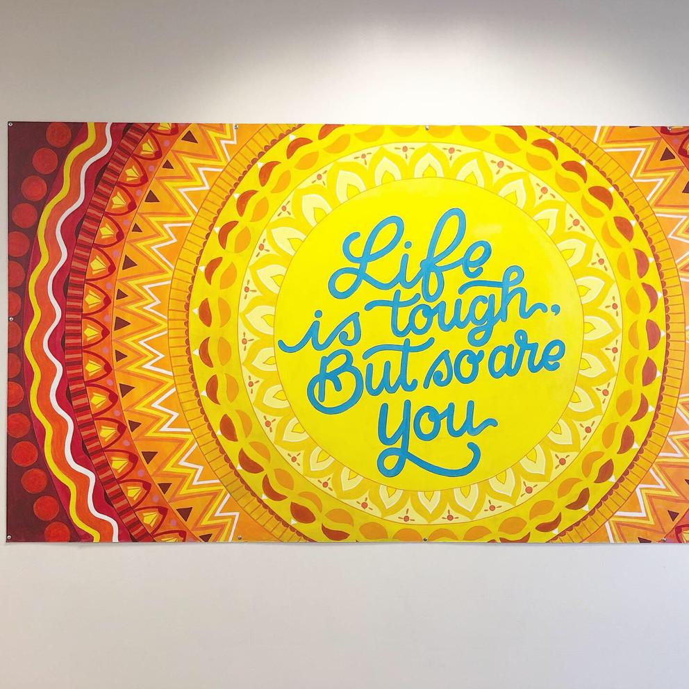 4x8ft mandala mural