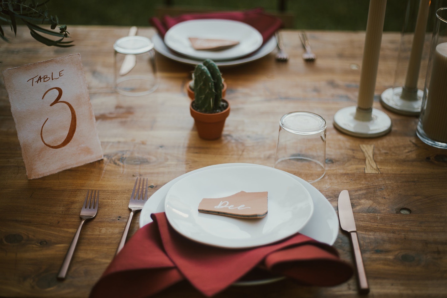 Terracotta Wedding Place Cards
