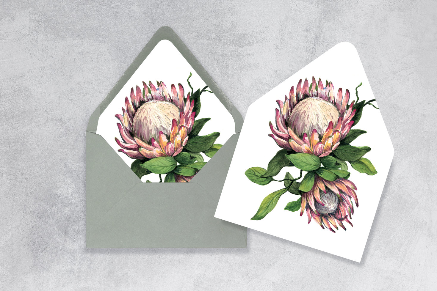 King Protea Envelope Liner