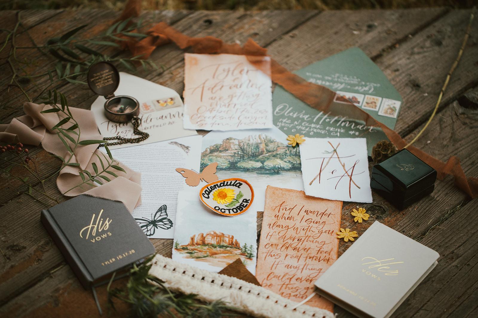Boho Wedding Invitation Package