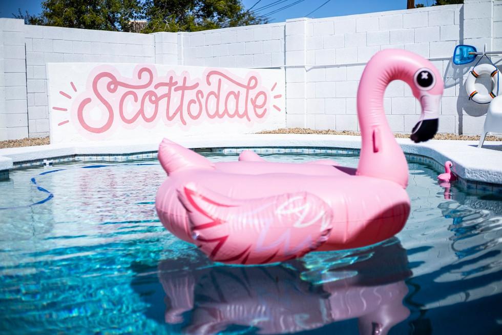 Scottsdale Air BnB pool mural