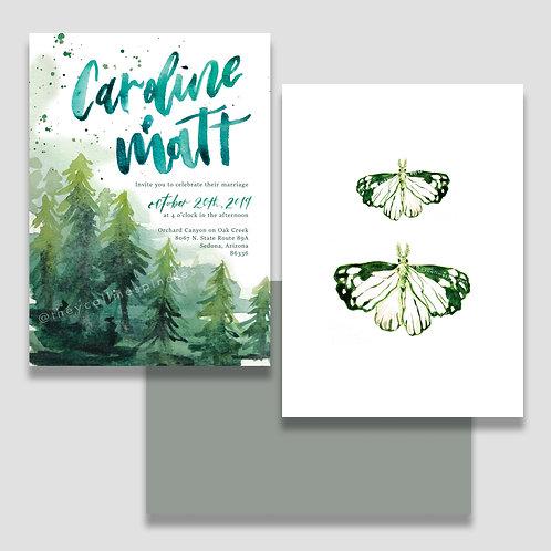 Woodland Invite + Envelope