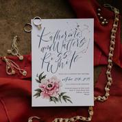 Jewel Tone Sedona Floral Wedding Invitations