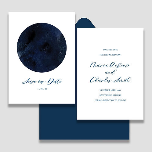 Celestial Save the Date + Envelope