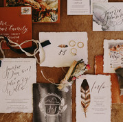 Under canvas desert boho wedding invitations