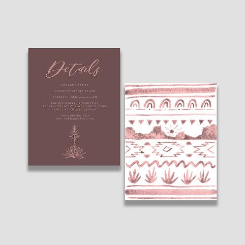 Pink Desert Details Card