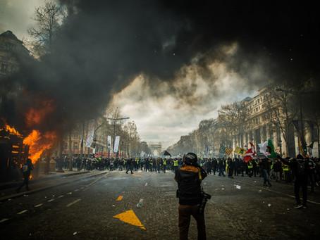 Emmanuel Macron's Neon Siege