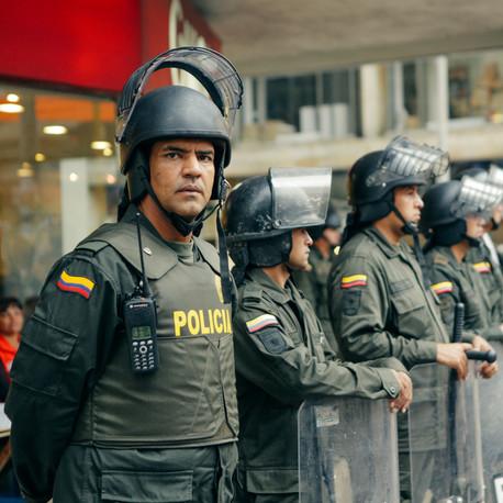 Policeman. Bogota, Colombia
