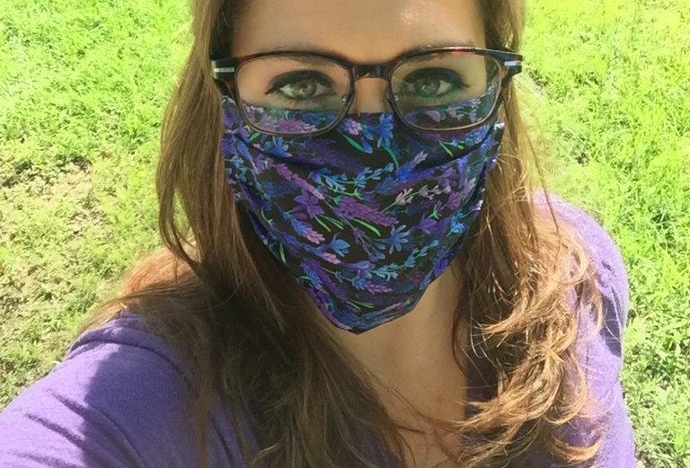 Bluebonnet/Lavender Mask
