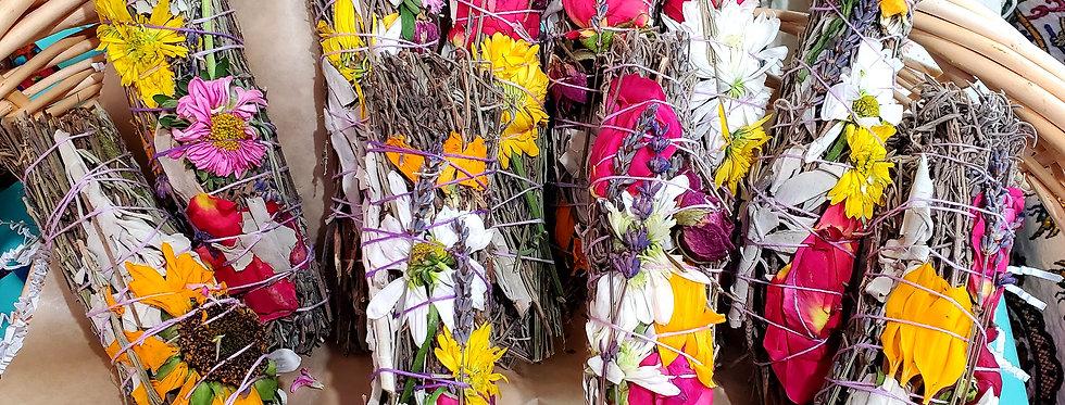 Lavender, Sage, and Rose Smudge Sticks
