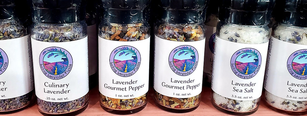 Lavender Spices with Grinders