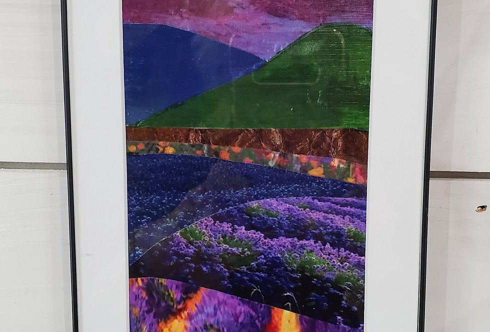 Collage Art - matted or matted & framed