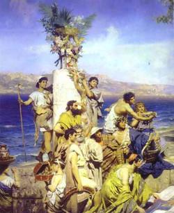 Phryné aux Poséidonia 1889 détail 2