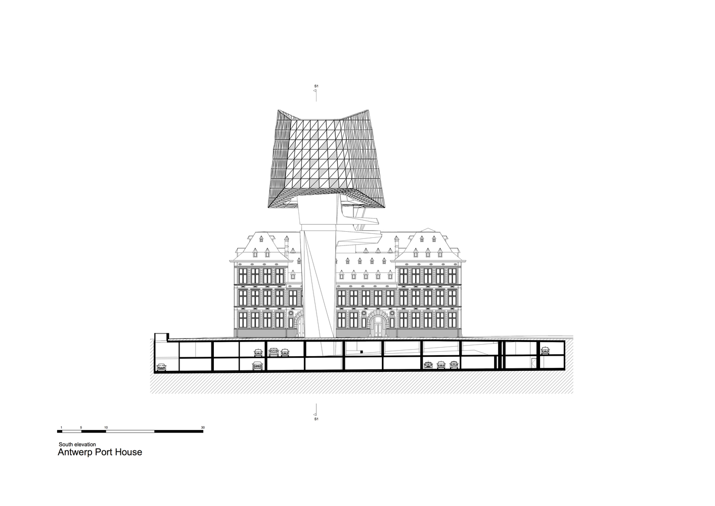 ZHA_Port_House_Antwerp_SOUTH_ELEVATION