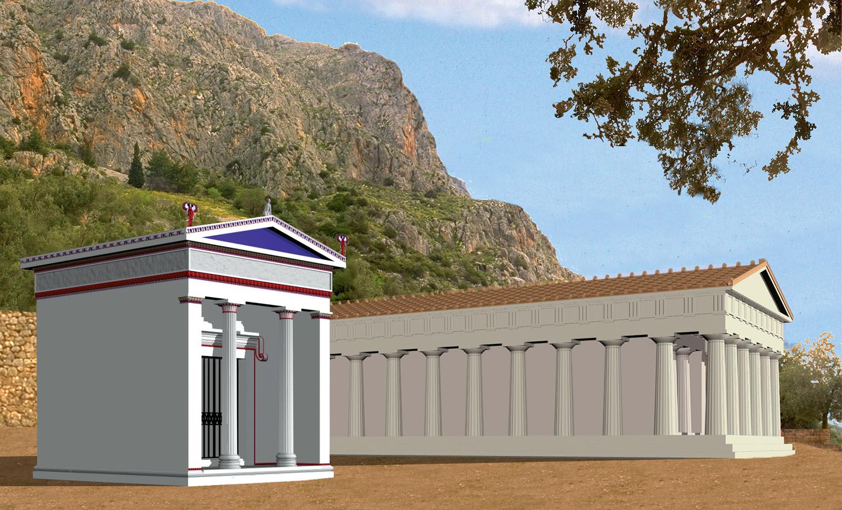 Eolian treasury and temple of Athena