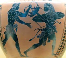 Apollo, Herakles and tripod