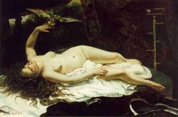 1866 Femme au perroquet