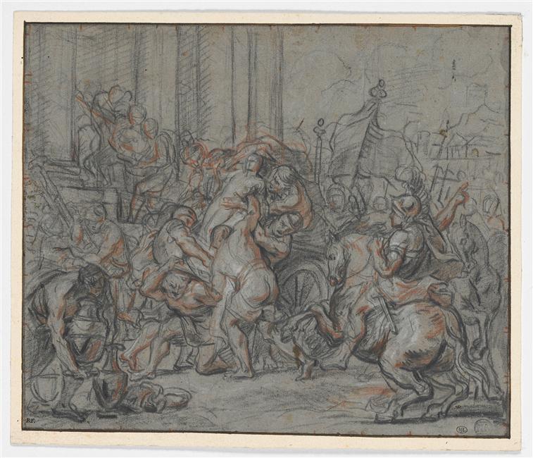 Les Tectosages pillant le temple de Delphes, vers 1700 (Louvre)