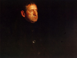 Andrew Wyeth portrait by his son