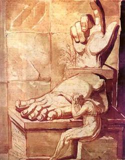 1780 Artiste devant la grandeur des ruiesn antiques