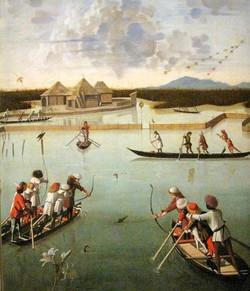 Caccia in laguna, 1490