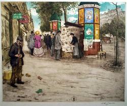 Kiosque sur les Grands Boulevards 1910