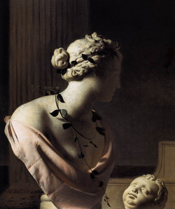 1665 Still-Life with a Bust of Venus