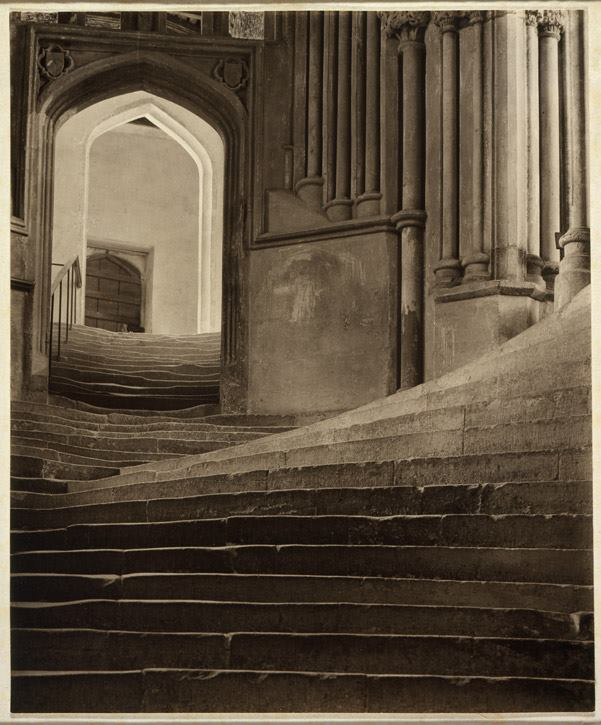Frederick H. Evans - A Sea of Steps, The Stairs to the Chapter House, Wells Cathedral, 1903.