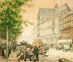 Les Halles et Saint-Eustache 1926