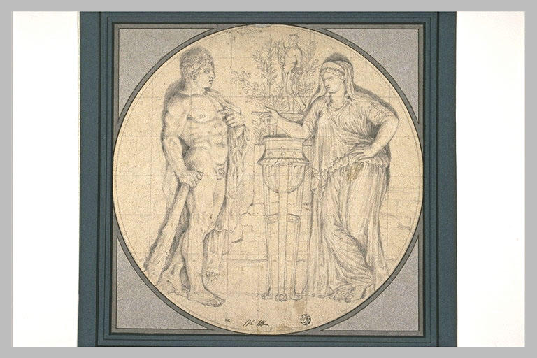 Hercule consultant l'oracle de Delphesjpg