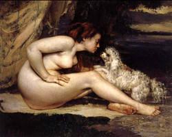 1866 Nu au chien
