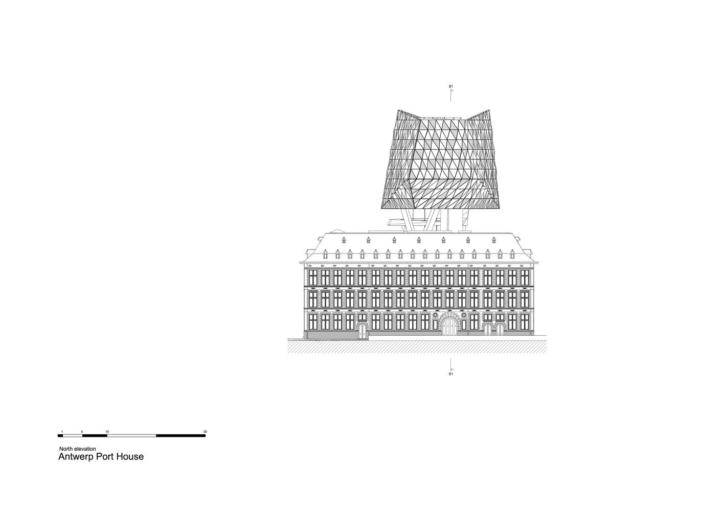 ZHA_Port_House_Antwerp_NORTH_ELEVATION