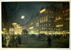 Boulevards, la nuit 1910