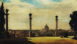Ippolito Caffi, Monte Pincio di mattina, 1846