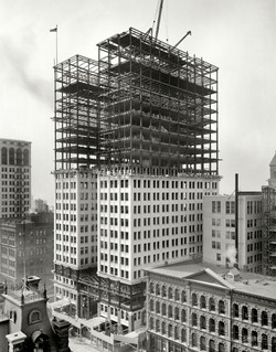 Dime Savings Bank building under construction