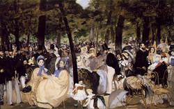 1860 Musique au jardín des Tuileries