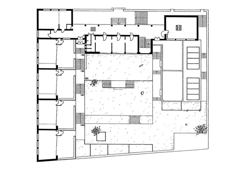 1932 Athènes Ecole élémentaire, plan