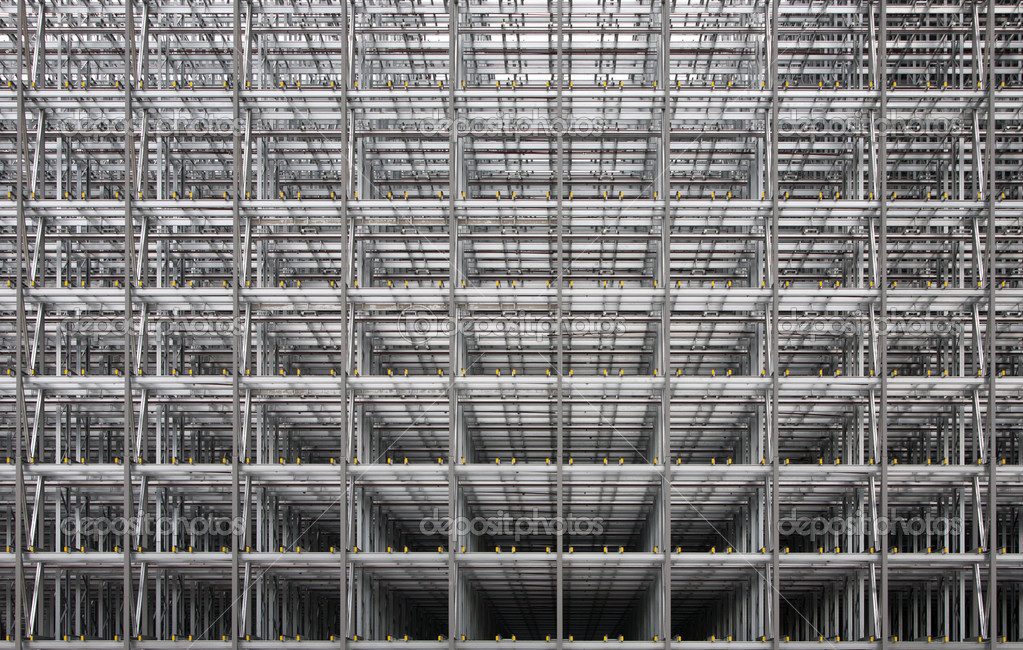 Steel frame of a business building