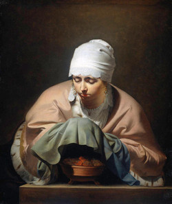 1646 Young Woman Warming her Hands over a Brazier